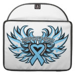 Prostate Cancer Awareness Heart Wings.png Sleeve For MacBook Pro