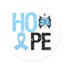 Prostate Cancer Awareness Hope Classic Round Sticker