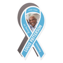 Prostate Cancer Awareness Memorial Photo Ribbon Car Magnet