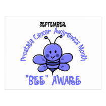 Prostate Cancer Awareness Month Bee 1.2 Postcard