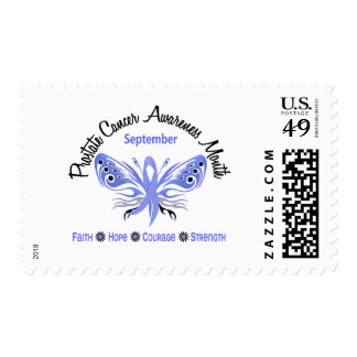 Prostate Cancer Awareness Month Butterfly 3.2 Stamp
