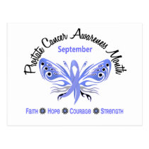 Prostate Cancer Awareness Month Butterfly 3.2 Postcard