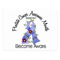 Prostate Cancer Awareness Month Flower Ribbon 2 Postcard