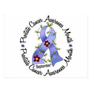 Prostate Cancer Awareness Month Flower Ribbon 3 Postcard