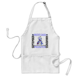 Prostate Cancer Awareness Month Flower Ribbon 4 Adult Apron