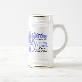 Prostate Cancer Awareness Month For My Family Beer Stein