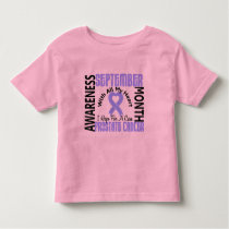Prostate Cancer Awareness Month Heart 1.1 Toddler T-shirt