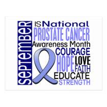 Prostate Cancer Awareness Month Ribbon I2 1.3 Postcard