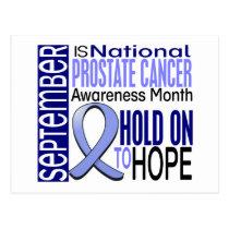 Prostate Cancer Awareness Month Ribbon I2 1.4 Postcard