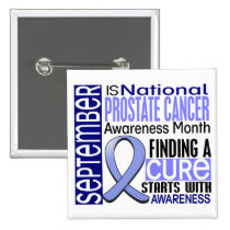 Prostate Cancer Awareness Month Ribbon I2 1.5 Pinback Button