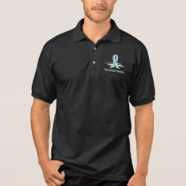 Prostate Cancer Awareness Ribbon with Swans Polo Shirt