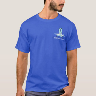 Prostate Cancer Awareness Ribbon with Swans T-Shirt