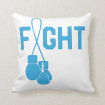 Prostate Cancer Awareness Survivor Fighter Ribbon Throw Pillow