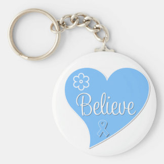 Prostate Cancer Believe Heart Keychains