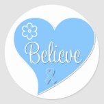 Prostate Cancer Believe Heart Stickers