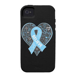 Prostate Cancer Believe Ribbon Heart iPhone 4/4S Cover