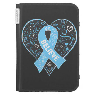 Prostate Cancer Believe Ribbon Heart Kindle Keyboard Covers