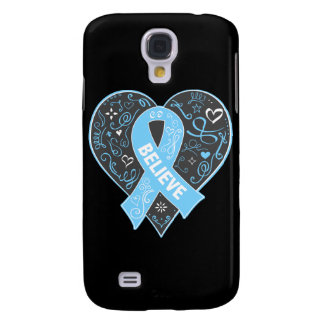 Prostate Cancer Believe Ribbon Heart Samsung Galaxy S4 Cover