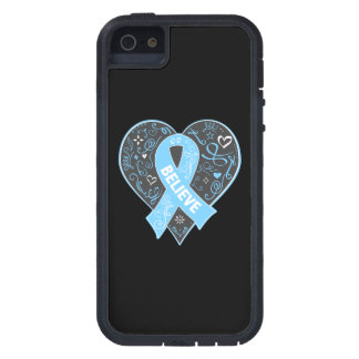 Prostate Cancer Believe Ribbon Heart iPhone 5 Case