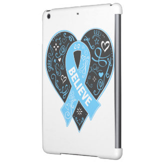 Prostate Cancer Believe Ribbon Heart Case For iPad Air
