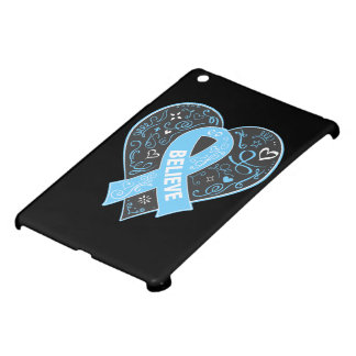 Prostate Cancer Believe Ribbon Heart iPad Mini Covers