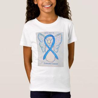 Prostate Cancer Blue Awareness Ribbon Angel Shirt