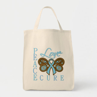 Prostate Cancer Butterfly Peace Love Cure Bag