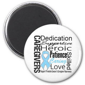 Prostate Cancer Caregivers Collage 2 Inch Round Magnet