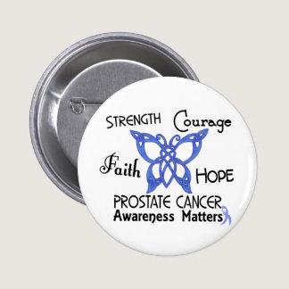 Prostate Cancer Celtic Butterfly 3 Pinback Button