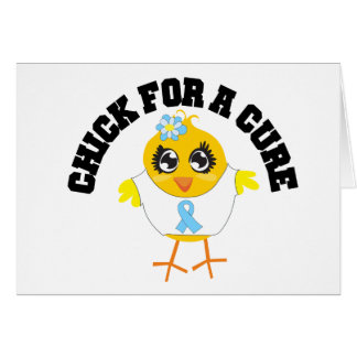 Prostate Cancer Chick For A Cure Greeting Card