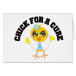 Prostate Cancer Chick For A Cure Greeting Cards