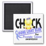 Prostate Cancer Chick Gone Light Blue 2 Refrigerator Magnet