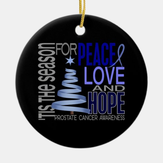 Prostate Cancer Christmas 1 Ornaments