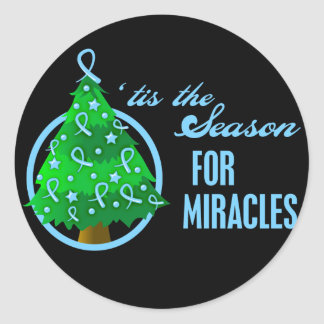 Prostate Cancer Christmas Miracles Stickers