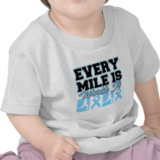 Prostate Cancer Every Mile is Worth It Tshirts