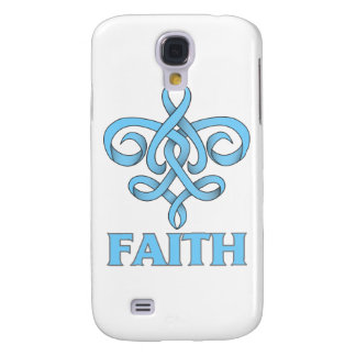 Prostate Cancer Faith Fleur de Lis Ribbon Samsung Galaxy S4 Covers