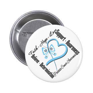 Prostate Cancer Faith Hope Love Butterfly 2 Inch Round Button