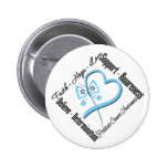 Prostate Cancer Faith Hope Love Butterfly Pin