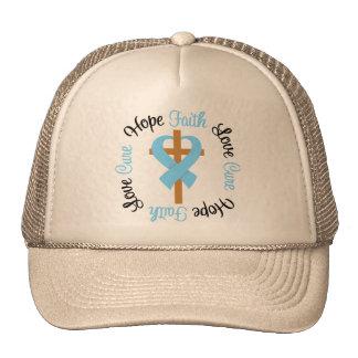 Prostate Cancer Faith Hope Love Cross Trucker Hat