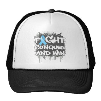 Prostate Cancer Fight Conquer and Win Trucker Hat