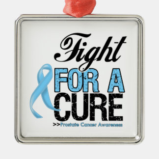 Prostate Cancer Fight For a Cure Square Metal Christmas Ornament