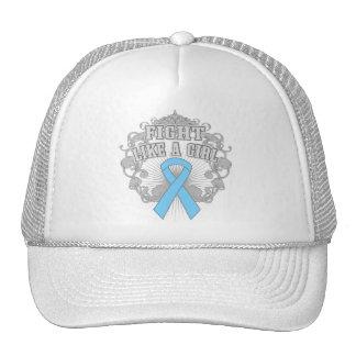 Prostate Cancer Fight Like A Girl Fleurish Trucker Hat
