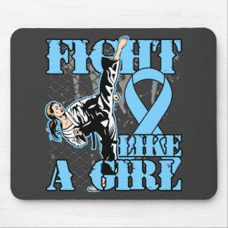 Prostate Cancer Fight Like A Girl Kick. Mouse Pad