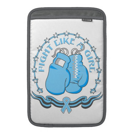 Prostate Cancer Fight Like A Girl Sporty MacBook Air Sleeve