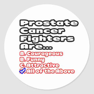 Prostate Cancer Fighter Quiz Classic Round Sticker