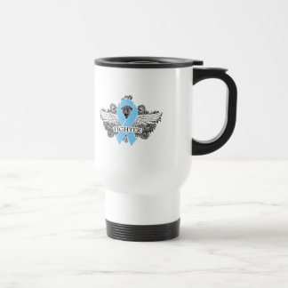 Prostate Cancer Fighter Wings 15 Oz Stainless Steel Travel Mug
