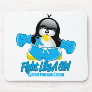 Prostate Cancer Fighting Penguin Mouse Pad