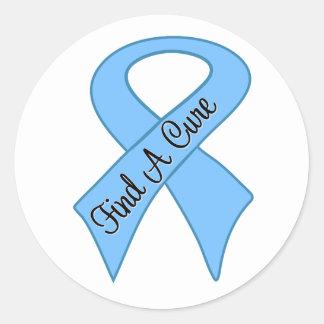 Prostate Cancer Find a Cure Classic Round Sticker