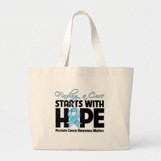 Prostate Cancer Finding a Cure Starts With Hope Canvas Bags