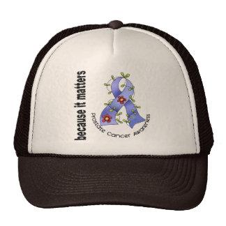 PROSTATE CANCER Flower Ribbon 3 Trucker Hat